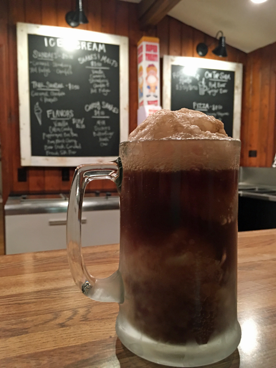 Root Beer Float at Half Moon Trail Resort