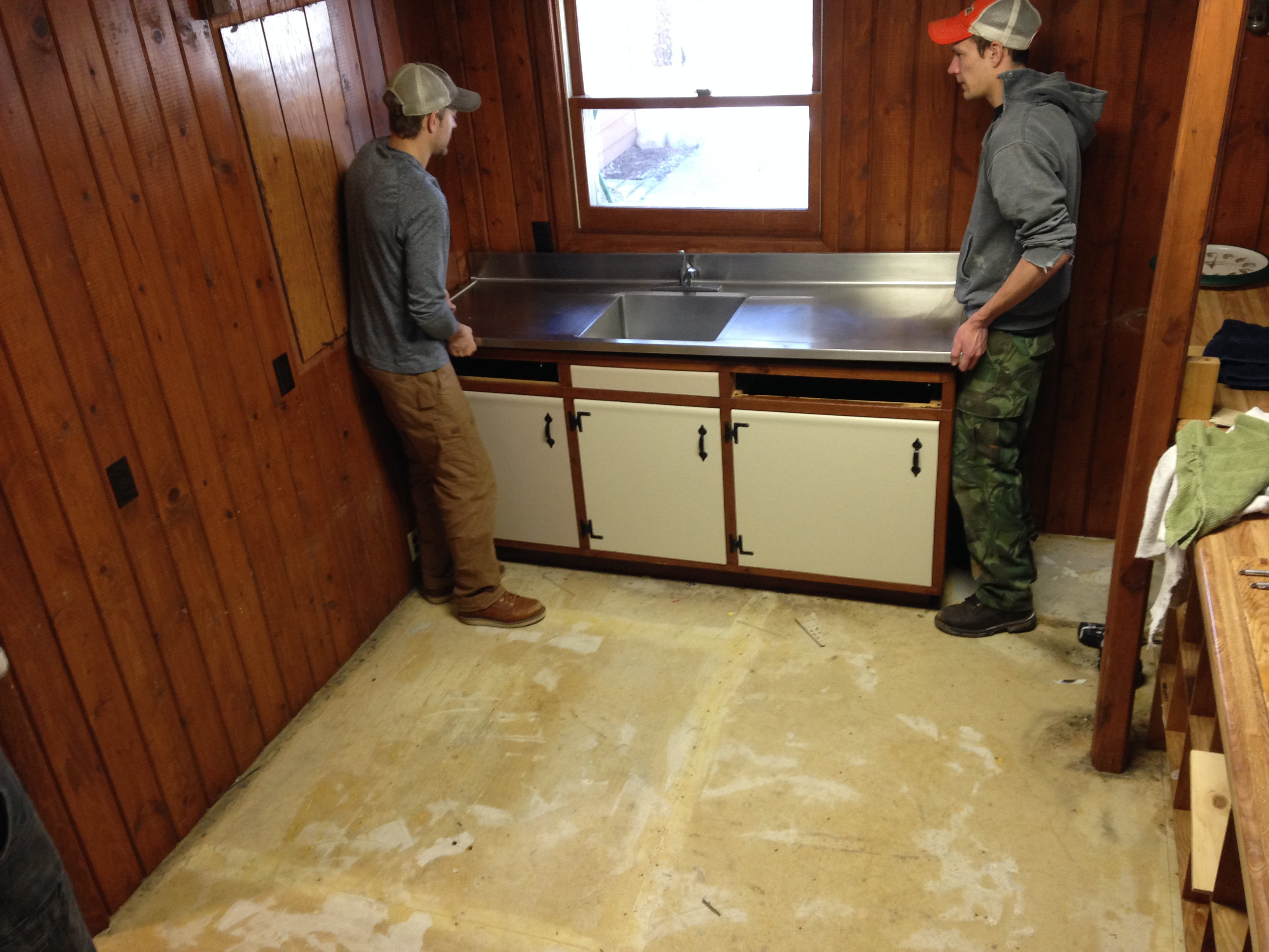 Removing Lodge Sink at Half Moon Trail