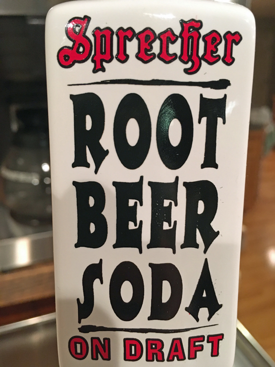 Sprecher Root Beer tap at Half Moon Trail Resort