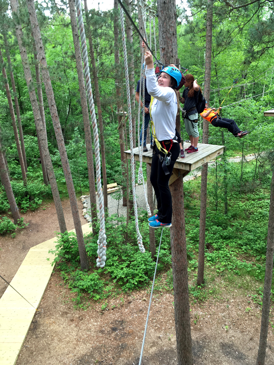 Half Moon Trail Staff at the Character Challenge Course
