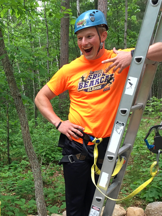 Forrest is one of the full time summer staff at Half Moon Trail Resort, in Park Rapids, MN