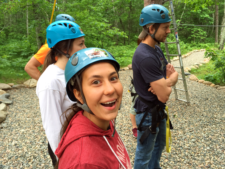 Michaela is one of the full time summer staff at Half Moon Trail Resort