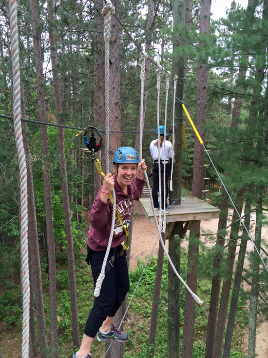 Mandy is one of the full time summer staff at Half Moon Trail Resort, in Park Rapids, MN