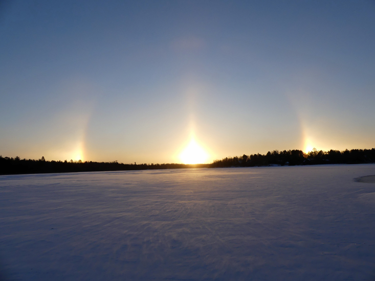 Sunrise with Sundog on Boot Lake, in Park Rapids, MN