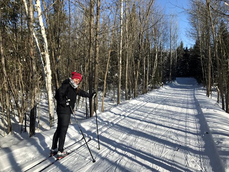 Liz Ahrendt Skiing at Soaring Eagle Ski Club